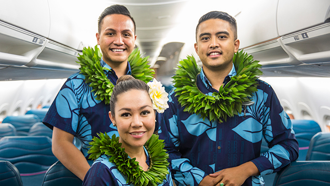 flight attendants smiling