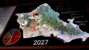 3D map of Oahu