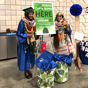 Kapiʻolani CC grads go green with blue caps and gowns