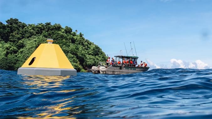 buoy in the ocean