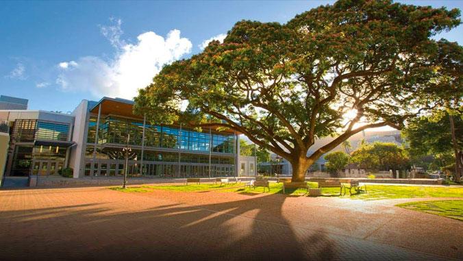Campus Center courtyard