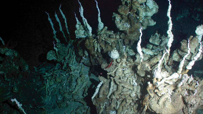Underwater carbonate chimneys