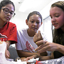Women mentor young women in UH STEM program