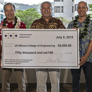HECO boosts STEM at UH Mānoa with $50,000 gift