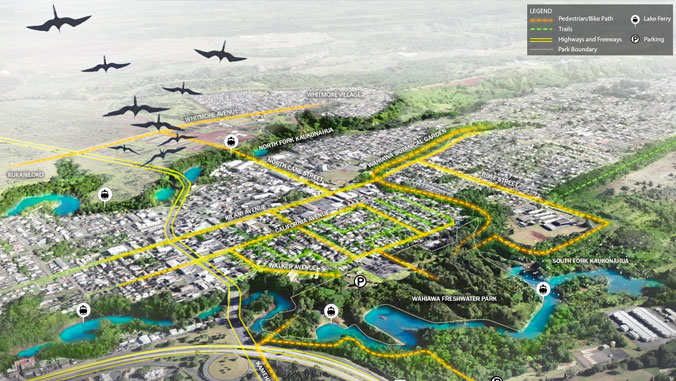 aerial graphic of Wahiawa