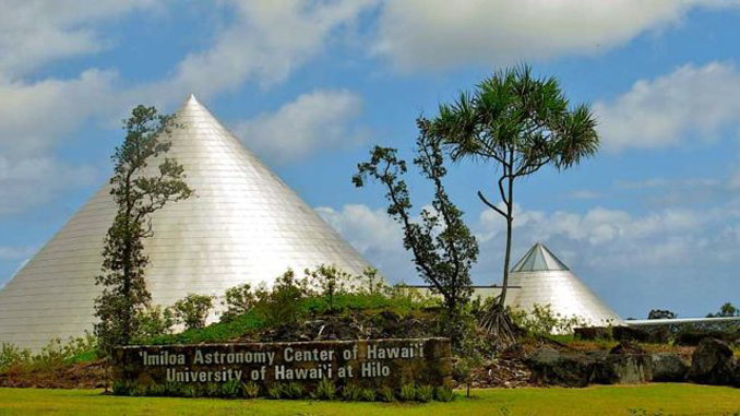 exterior and sign of Imiloa Astronomy Center