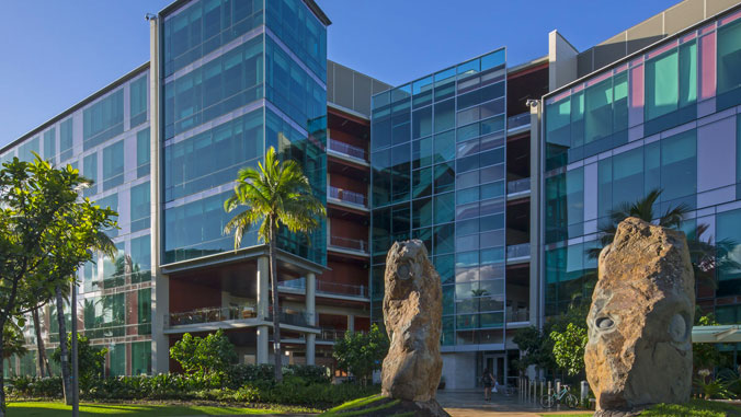 Outside of UH Cancer Center building
