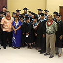 First Marshall Island education cohort graduates