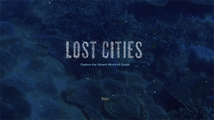 coral with words Lost Cities on the screen