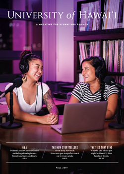 two women smiling during a podcast