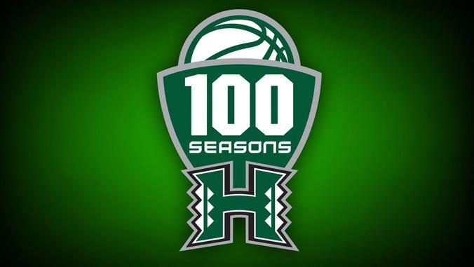logo for the men's basketball 100 seasons