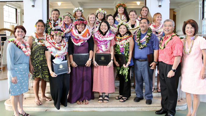 group photo of teacher of the year awardees