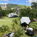 Massive inflatables take over UH Mānoa historic quad