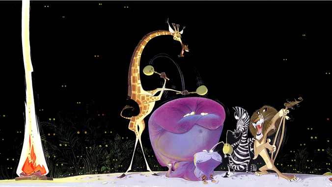 Characters from the film Madagascar