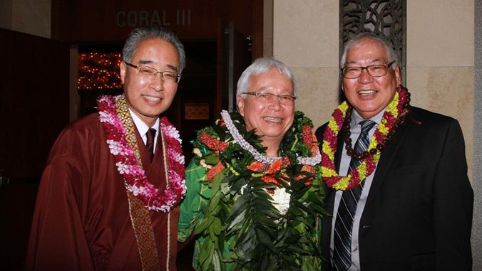 Larry Kimura with Eric Matsumoto and Pieper Toyama