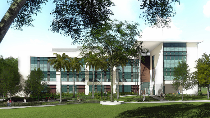 Render of the Life Sciences building