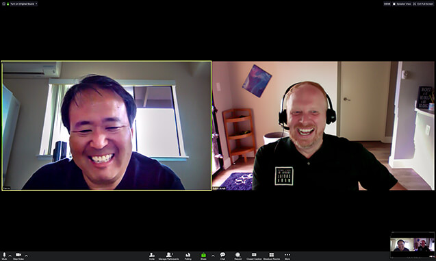 two faculty on Zoom