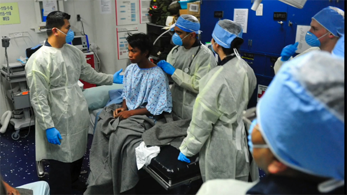 doctors in icu room