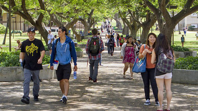 Students on McCarthy Mall