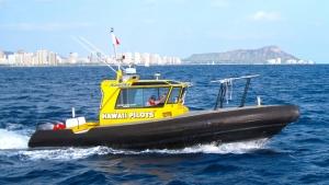 Boat in the water in Honolulu