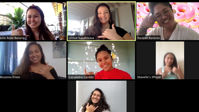 students on Zoom