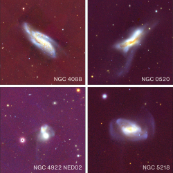 four galaxies