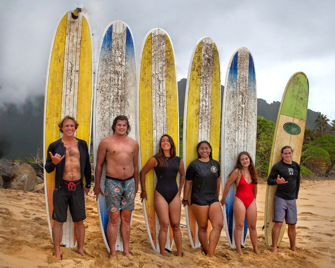 masterson and surfing students