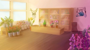 animated screen shot of a flower shop