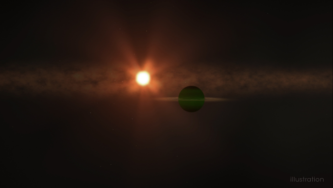 infant planet and star