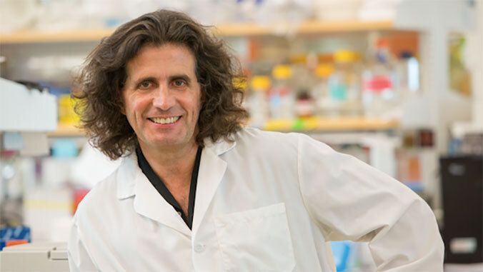 carbone in his lab
