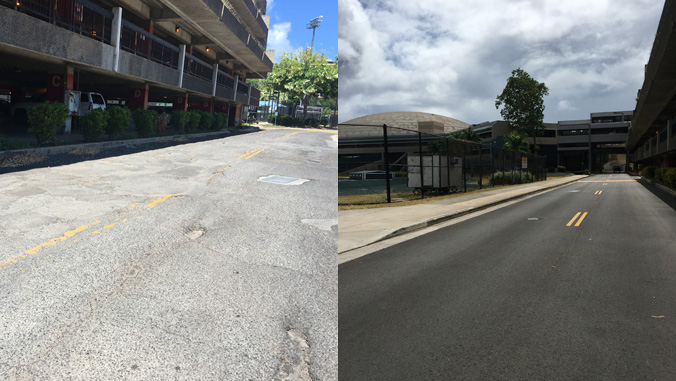 Before and after of Kalele Road