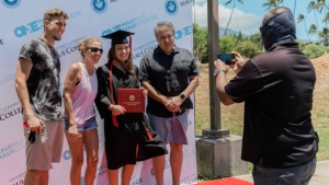 graduate taking photo