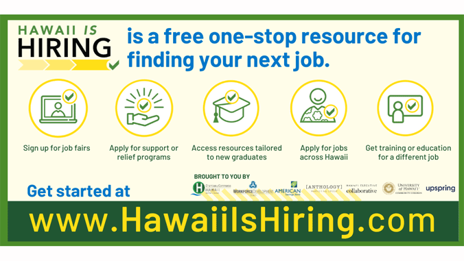 hawaii is hiring dot com graphic