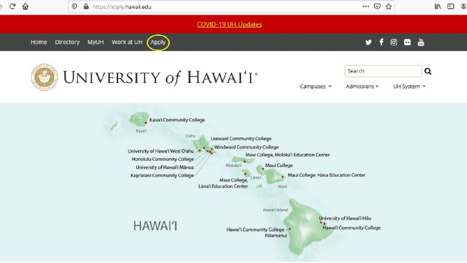 New online application launched for UH Community Colleges