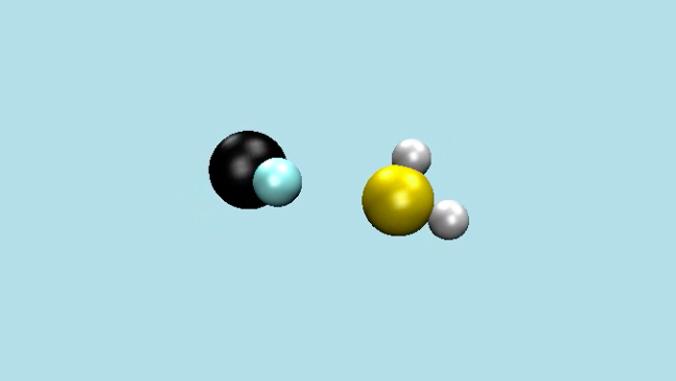 closeup view of atoms