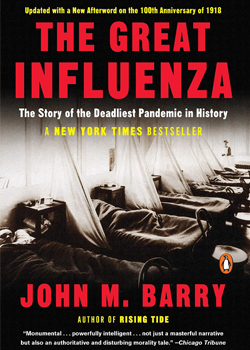 book cover for The Great Influenza