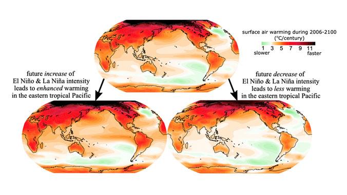 map of ocean warming