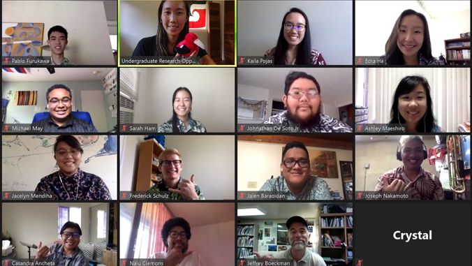 15 people on a zoom meeting call