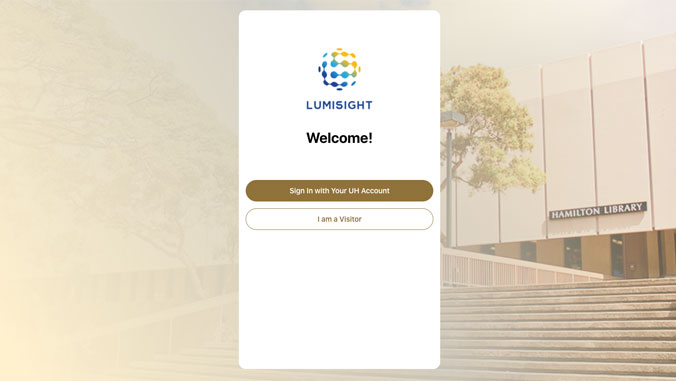 LumiSight login page
