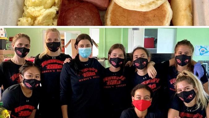 women's soccer team and breakfast food