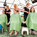 Head-shaving event for childhood cancer research creates buzz