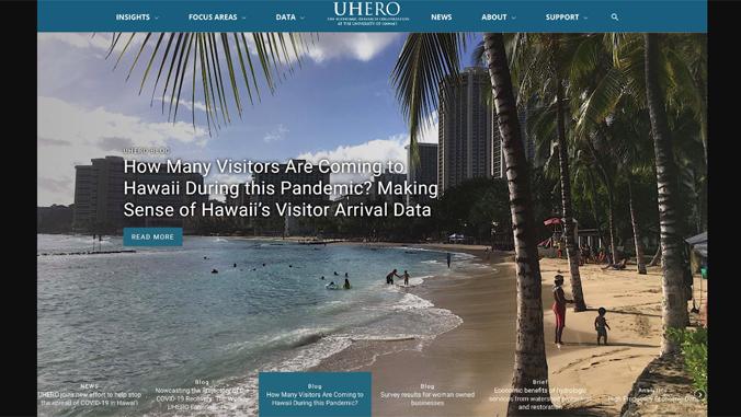 screenshot of UHERO website