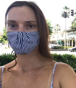 Tatiana Strezoski wearing a mask
