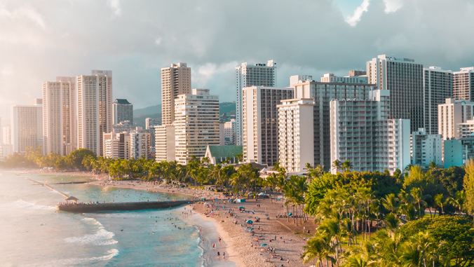 above shot of hotels and buildings in Waikiki