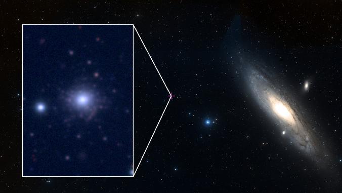 star cluster near andromeda