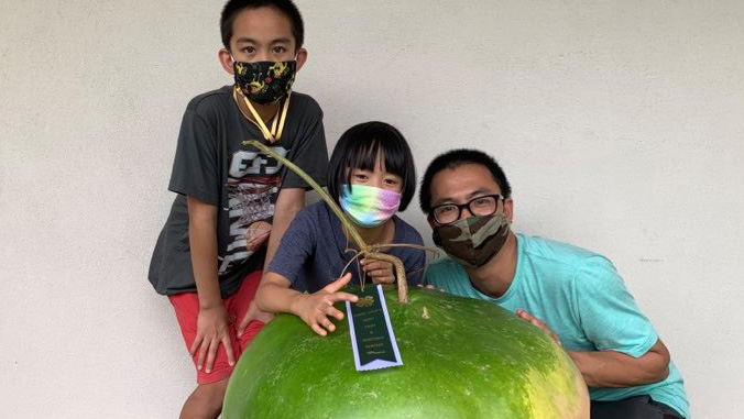 family with gourd
