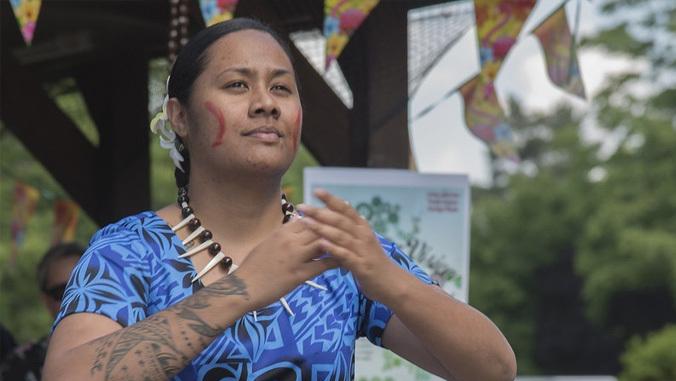 Pacific Islander dancer
