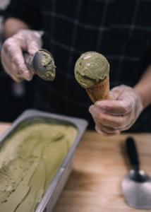 ice cream and a cone