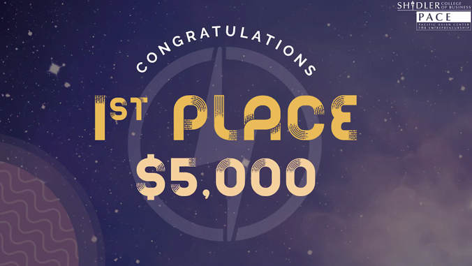 graphic that says first place, $5,000