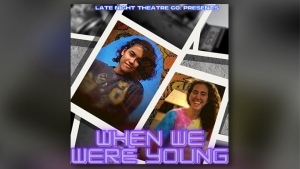 promotional poster of when we were young with two people smiling